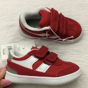 Cat & Jack Boys Sz 6 Red Sneakers